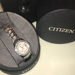Women's Citizen EcoDrive silver/pink watch
